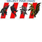 Select your Kaiju (Sprites) by Funkymunkey