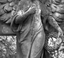 Angel on a Cross Sticker