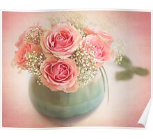 Beautiful bouquet of roses Poster