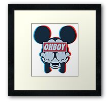 Stereoscopic ohboy Framed Print
