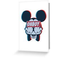 Stereoscopic ohboy Greeting Card