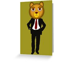 Office bear Greeting Card