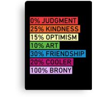 100% BRONY Canvas Print