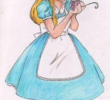 Festival of Fantasy Alice with Dormouse by burrwabbits