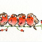 Red Robins by Jean Bonnitcha by Andrew Bonnitcha