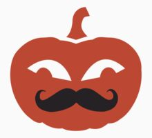 Pumpkin face mustache by Designzz