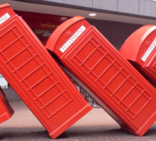 Leaning Telephone Boxes, Kingston Sticker