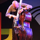 Charles Lloyd's Colorful Bass Player  by Sandra Gray