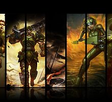 League of Legends Commando Skins by Xzagr