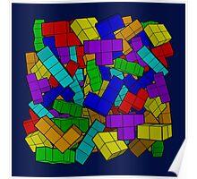 Tetris Pile Poster