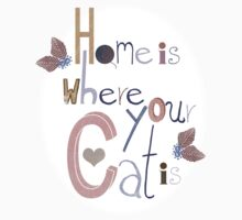 Home is where your Cat is Kids Clothes