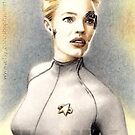 Jeri Ryan miniature by wu-wei