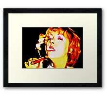 Dominate business woman Framed Print
