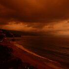 sunset behind clouds - puesta del sol atras de nubes by Bernhard Matejka