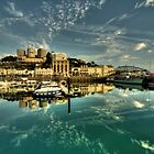Torquay Harbour Reflections  by Rob Hawkins