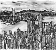 HongKong in black and white by magic4x