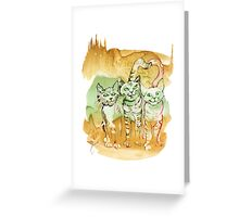 Tree Brothers Greeting Card
