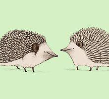Two Hedgehogs by Sophie Corrigan