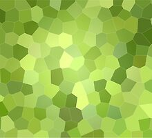 Green honeycomb with dark parts by iWorkAlone