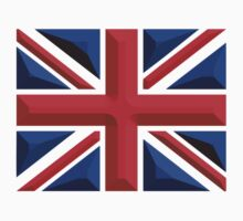 British Union Jack, Chisel Hard, UK, United Kingdom, flag by TOM HILL - Designer