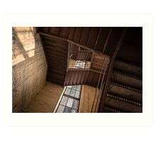 Industrial staircase going up to the tower Art Print