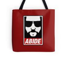 Jeff the big Lebowski abide obey poster Shepard Fairey parody Tote Bag