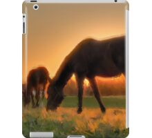 Dam and Foal - horses together in the sun. iPad Case/Skin