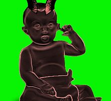 devil baby halloween scary horns by kaikai
