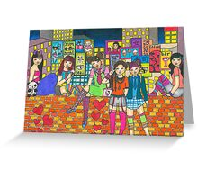 Harijuku Girls Greeting Card