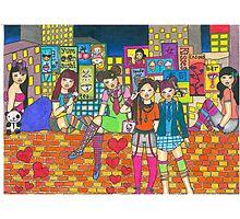 Harijuku Girls Photographic Print