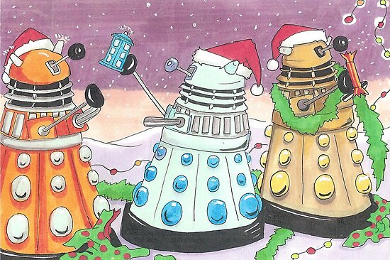 Dalek xmas card by debzandbex