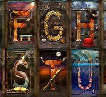 Steampunk -  Alphabet - Banner Version Complete by Mike  Savad