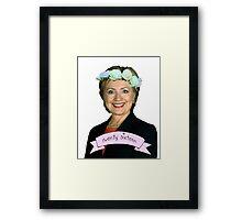 Hipster Hillary for President Framed Print