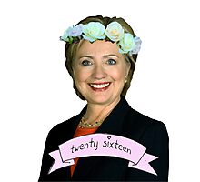 Hipster Hillary for President Photographic Print