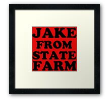 JAKE FROM STATE FARM Framed Print