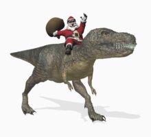 Santa Claus Riding A Trex Kids Clothes