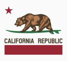 California Surfing Bear by robthebarber