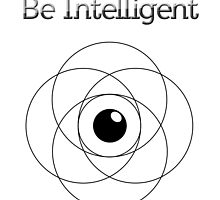 Be Intelligent Erudite Eye - Black  by MusicandWriting