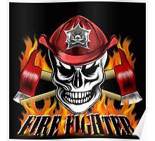 Firefighter Skull 4 Poster
