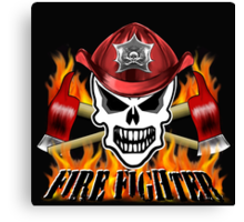 Fire Fighter Skull 2 Canvas Print