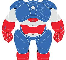 Baymax (Captain America Armored) by Ztw1217