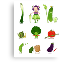 Veggie Army Canvas Print