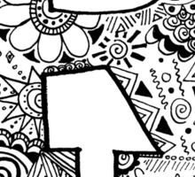 Hipster Rutgers University Zentangle Sticker