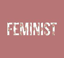 FEMINIST - White Floral by Toovalu