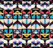 Colorful Abstract Weave Pattern by perkinsdesigns