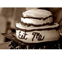 Alice's Eat Me Cake Photographic Print