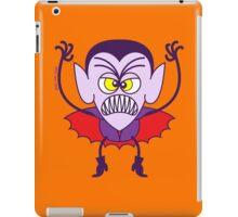 Scary Halloween Dracula Emoticon iPad Case/Skin