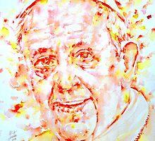 POPE FRANCIS - watercolor portrait.1 by lautir