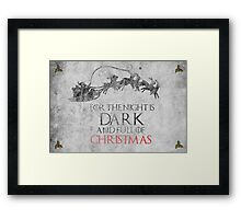 Thrones Christmas: The Night is Dark Framed Print