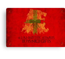 Thrones Christmas: Lannisters Spend More Canvas Print